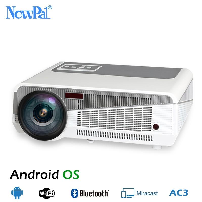 5500 люмен, светодиодный проектор Full HD 3D проекторы Android 1080 P домашний Театр Bluetooth WI FI AC3 проектор светодиодный 86