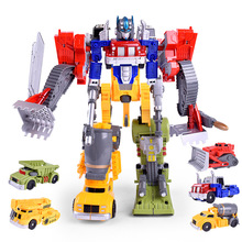 Toys Hobbies - Action  - [Yamala] 5 In 1 Truck Deformation Robot  Car Deformation Toy Car Action Figure Model Toys Boys Gift Transformation Robots Toys
