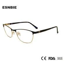 Liga de Metal Senhoras Armações de Óculos de Olho Óculos Mulheres Frame  Ótico Aro Completo Strass Miopia Óculos Occhiali Donna . 4e31a6f3d0