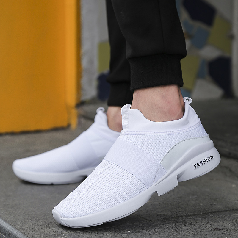 Spring High Quality Design Sneakers Mesh Breathable Sport Shoes Black/White/grey/red Light Weight Slip-on Running shoes