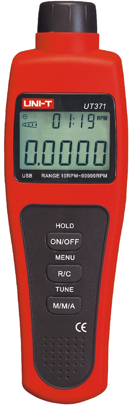 ФОТО UT371 tachometer digital display non-touch tachometer photoelectric speed tachymeter