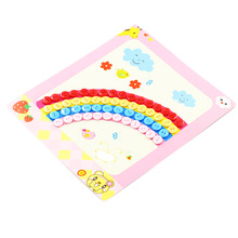 Creative Educational  Kids Children Drawing Toys DIY Picture Handmade Buttons Paste Painting Material Bag For Home Kindergarten