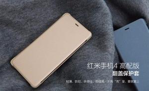 """Image 4 - 100% Orijinal Xiao mi kırmızı mi 4 pro akıllı uyandırma Flip case 4 Başbakan deri Kılıf Xiao mi mi kırmızı mi 4pro 3 GB 32 GB telefon 5.0"""""""