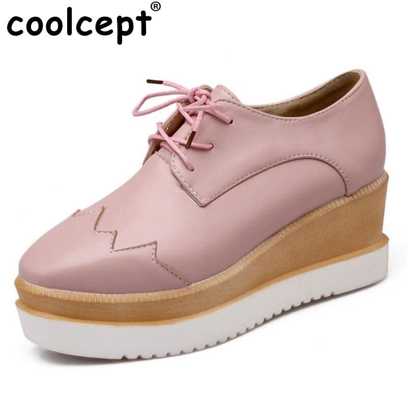Plataforma 34 Coolcept Cuña Zapatos Tacón Beige Mujeres rojo Cuñas negro De Señoras Charol Las rosado P17172 Bombas Moda Asual 39 55FrOwq