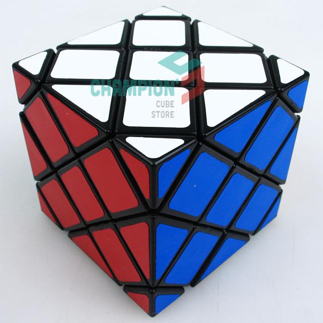 Nueva Llegada Extraño En Forma de LanLan 8-Axis Maestro Skewb Torcedura Square Cubo Mágico Cubo Mágico 56mm Velocidad Rompecabezas Educativos juguetes