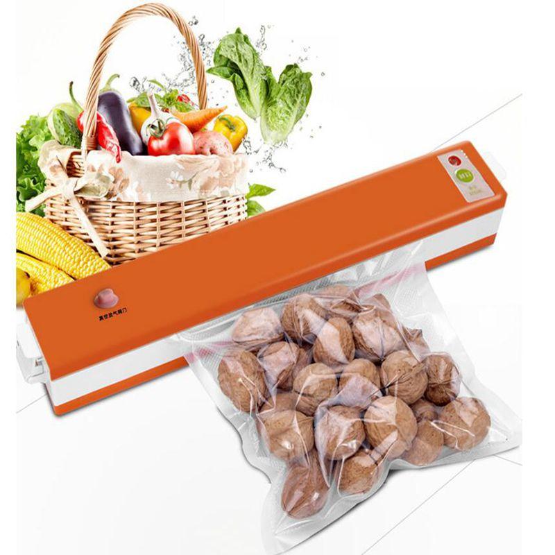 ФОТО Home Appliance 220V Household Food Vacuum Sealer Machine Vacuum Packing Machine Film Container Food Sealer Saver New