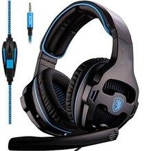 Fones De Ouvido com Microfone Gaming Headset Único 3.5mm Jack Gamer, adaptador PC para Novo Xbox One/PS4/PlayStation 4 Laptop Telefone