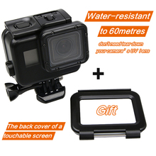 Classic Black Color Shell Underwater 60M Diving Waterproof Housing Case with Touch Screen Back Cover for Gopro Hero 7 6 5 Came