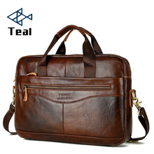 Genuine Leather Briefcase Mens Handbags Crossbody Bags High Quality Luxury Business Messenger Laptop