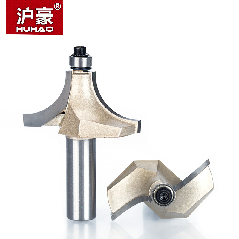 HUHAO 1pcs 1/2 Shank Beading Router Bits For Wood Tungsten Carbide Beading Bit Double Edging Router Bit Woodworking Tools high grade carbide alloy 1 2 shank 2 1 4 dia bottom cleaning router bit woodworking milling cutter for mdf wood 55mm mayitr