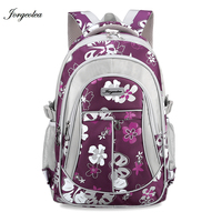 Jorgeolea New Fashion Canvas Printing Daypack School Bag For Teenage Nylon Leisure Style Backpack Female Male