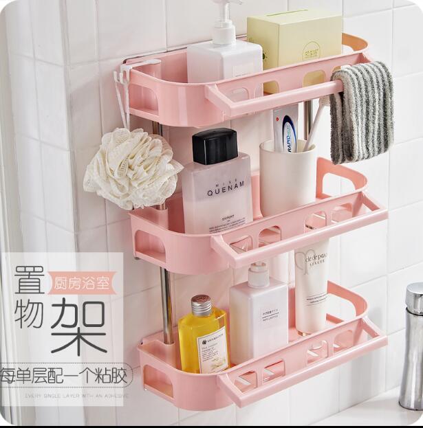 Wall Mounted Shelf Bathroom Organizer Plastic Storage Racks Accessories  Kitchen Rack In Storage Holders U0026 Racks From Home U0026 Garden On  Aliexpress.com ...