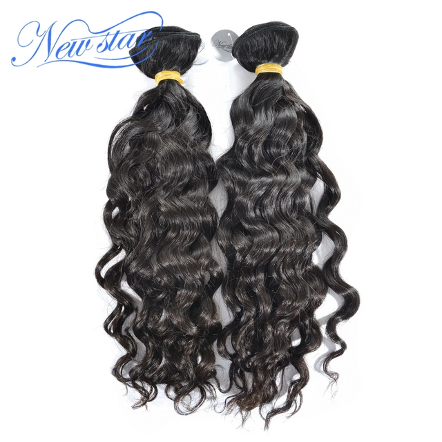New Star Top Peruvian Wavy Virgin Human Hair Extensions 2 Pcs Lot 100% Unprocessed Virgin Peruvian Natural Wave Hair Weave
