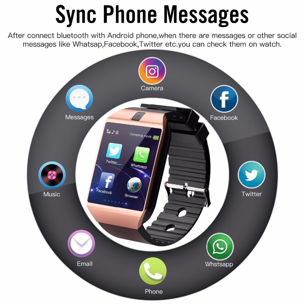 eaf21826be1 Cawono smart watch Bluetooth DZ09 relogio celular Smartwatch a prova d    água wearable devices Relógio Inteligente Relógio Android Phone Call SIM TF  Camera ...