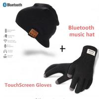 Wireless Bluetooth Music Hat Removable Stereo Headphones Charges Via USB Unique Delightful Touch Gloves Christmas Gift