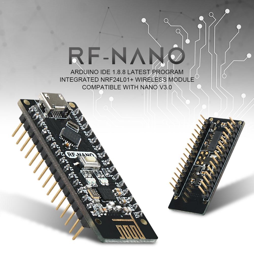 2 Pcs Keywish RF-Nano for Arduino Nano V3.0 Mirco USB Board Integrate nRF24L01 Wireless Module ATmega328P Micro-Controller Board Compatible With Arduino Nano V3.0