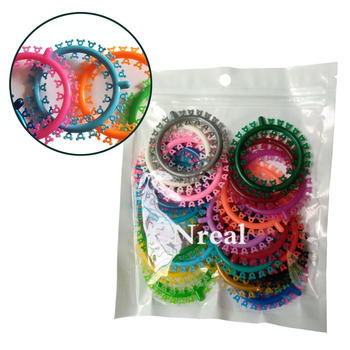1 Bag Dental Elastic Orthodontic Ligature Ties Mickey-type Assorted Color Oral Care (1000 Ties) 1pack 40pcs dental ligature ties orthodontics elastic multi color rubber bands for health teeth tools