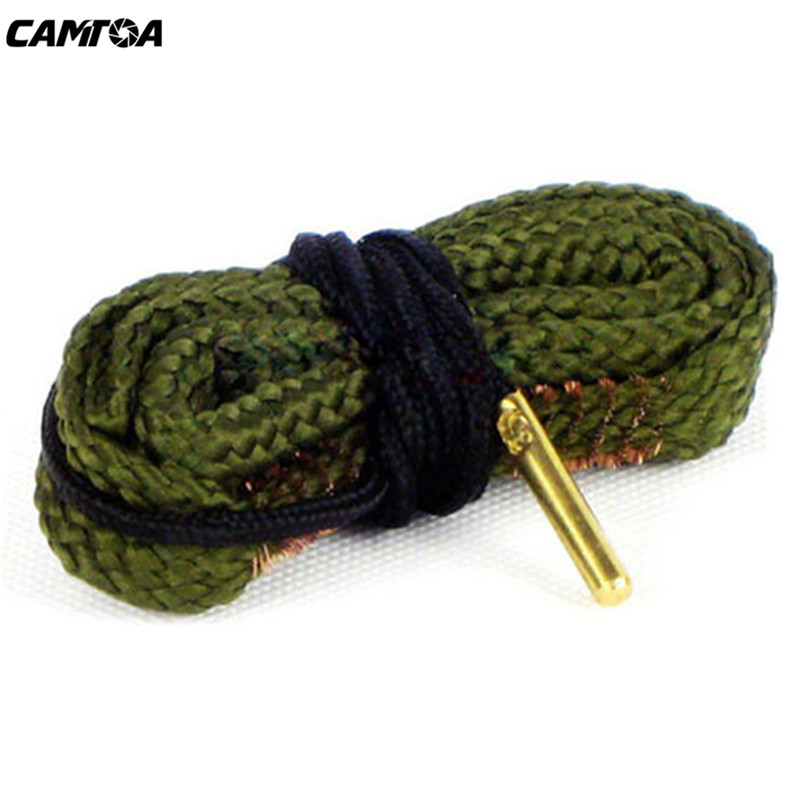 Cuerda Limpieza Serpiente Bore 380 9mm Calibre Rifle barril Barril Limpiador Bor