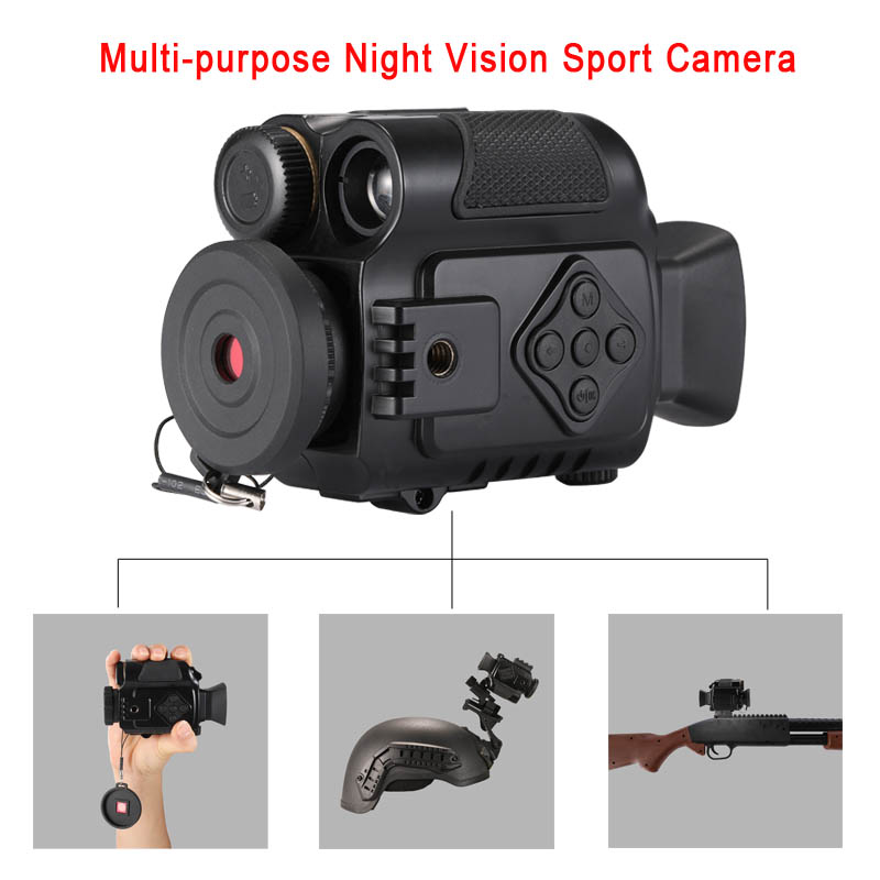 P4 0118 Digital Night Vision Sport Action Cameras 5X Zoom Mini Size NV Infrared Cameras Monocular