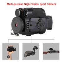 P4 0118 цифровой Ночное видение спортивных экшн камер 5X зум Мини Размеры NV инфракрасные камеры Монокуляр Телескоп для продажи