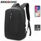KINGSLONG нейлон USB зарядка для мужчин 15 дюймов ноутбук анти вор рюкзаки для подростка Мода Mochila Дорожная сумка KLB180621B 5