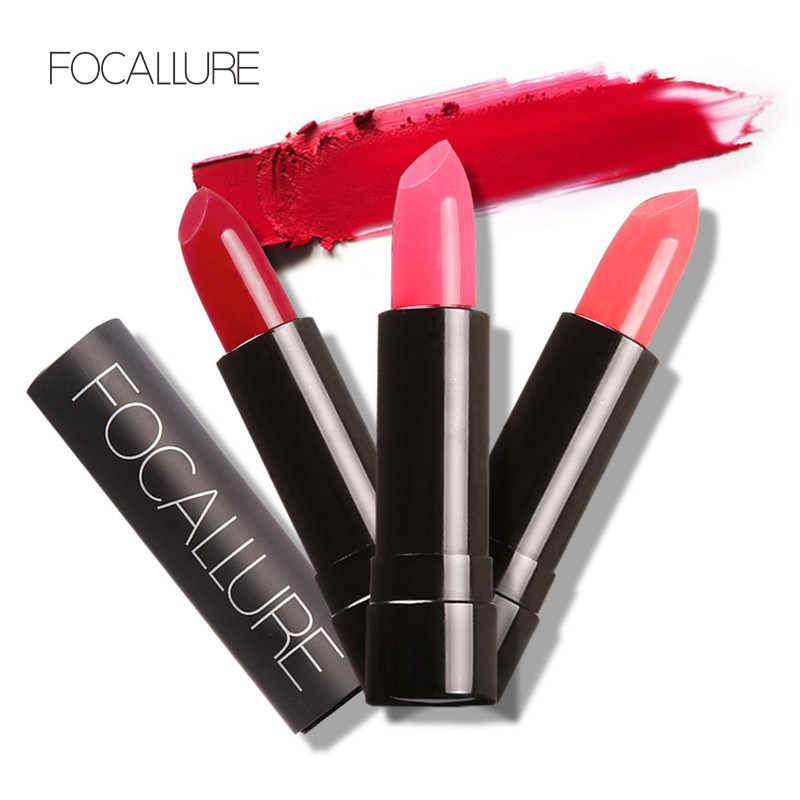 Focallure Maquiagem Professional Makeup Brand Charming Lip Lipstick Waterproof 12 Colors Lipstick Cosmetic Long Lasting Lipstick