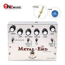 Biyang Pedal de efecto guitarra eléctrica Tonefancier, extremo de Metal King, distorsión, diseño de Bypass verdadero con conector de Pedal dorado