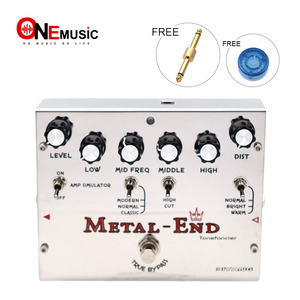 Image 1 - Biyang Tonefancier Metal End King Distortion Electric Guitar Effect Pedal True Bypass Design with Gold Pedal Connector