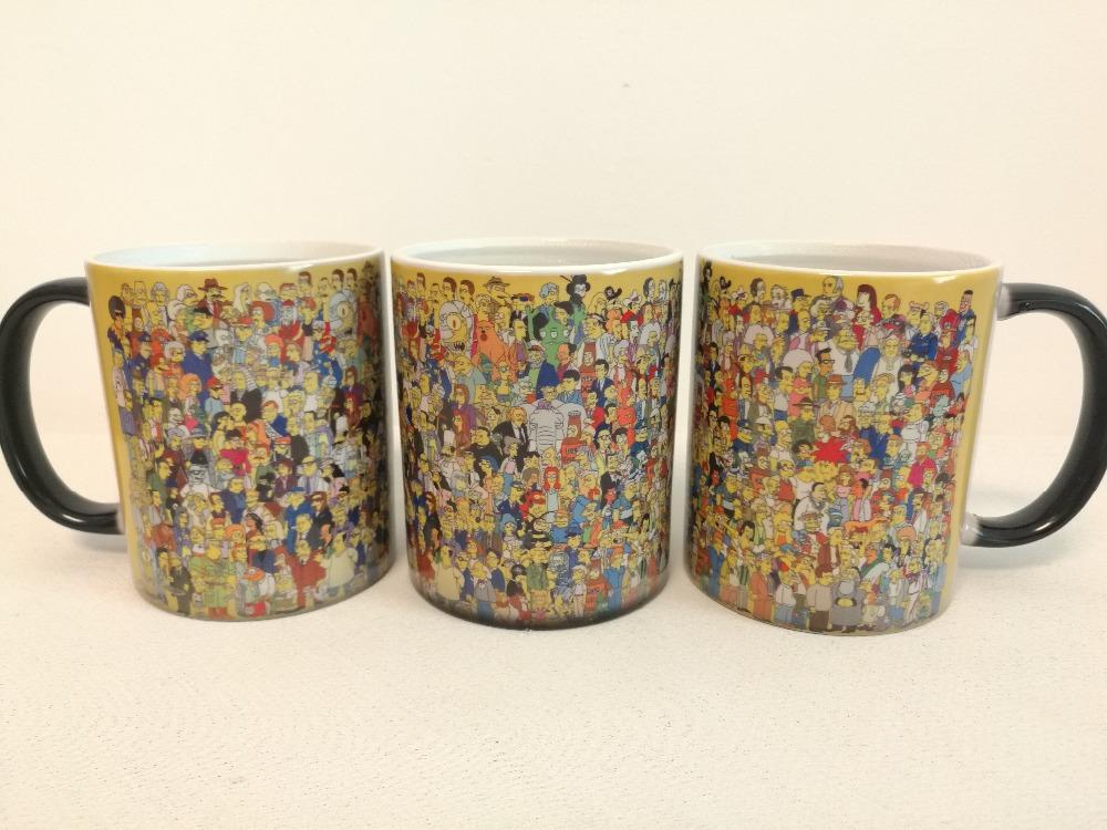320 ml Simpsons Tasse Bart Simpson Blau Marenga Kaffeebecher