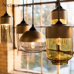 Skandynawski retro wiatr przemysłowy szklany żyrandol salon restauracja kawiarnia kreatywny nowoczesny prosty pojedynczy klosz żyrandol