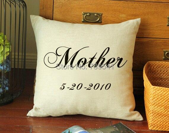 Оптовая продажа пользовательские Цитата наволочка персонализированные мать подарок Подушки крышка любой цитаты доступно уникальная идея ...