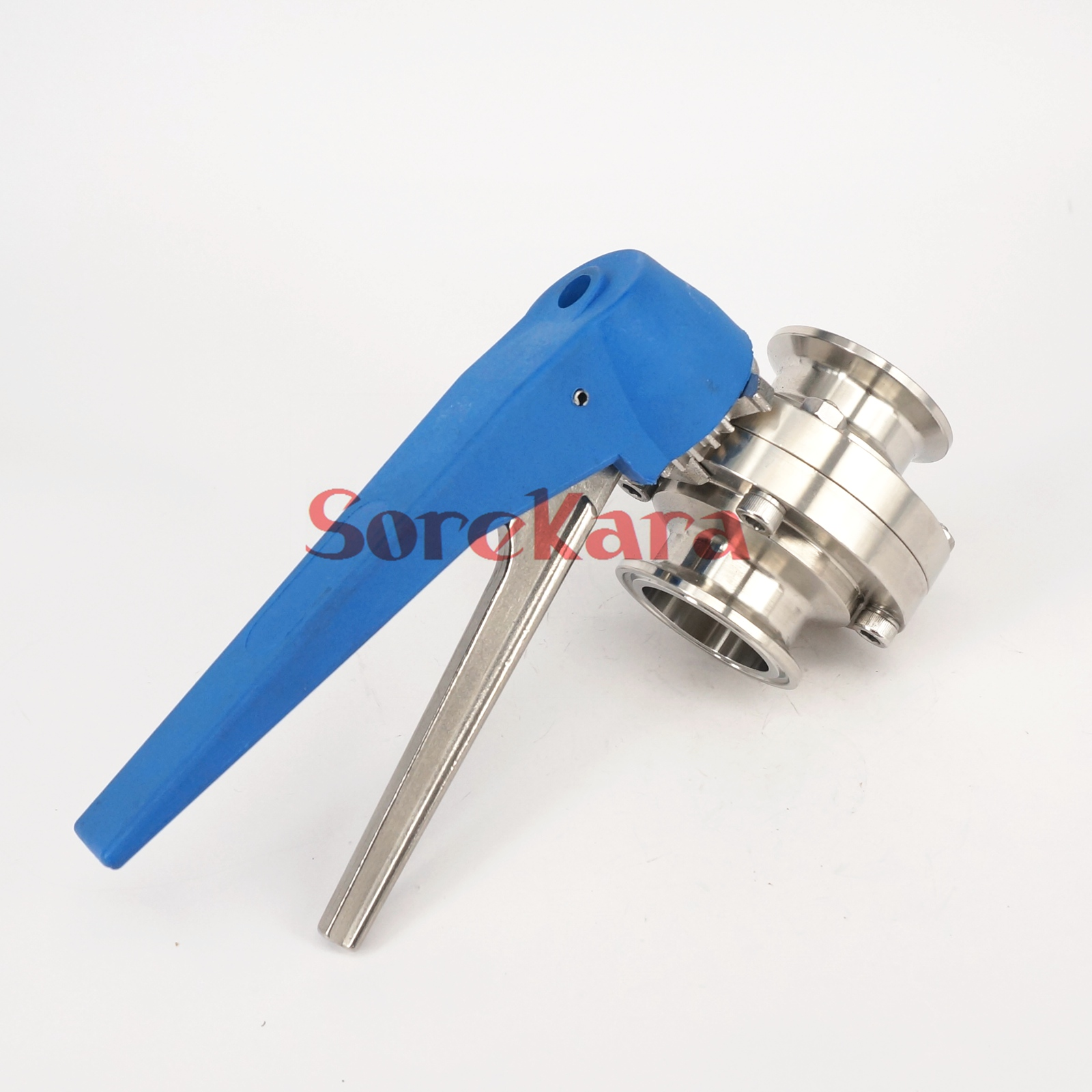 1 1 2 38mm SS304 Stainless Steel Sanitary 1 5 Tri Clamp Butterfly Valve Squeeze Trigger