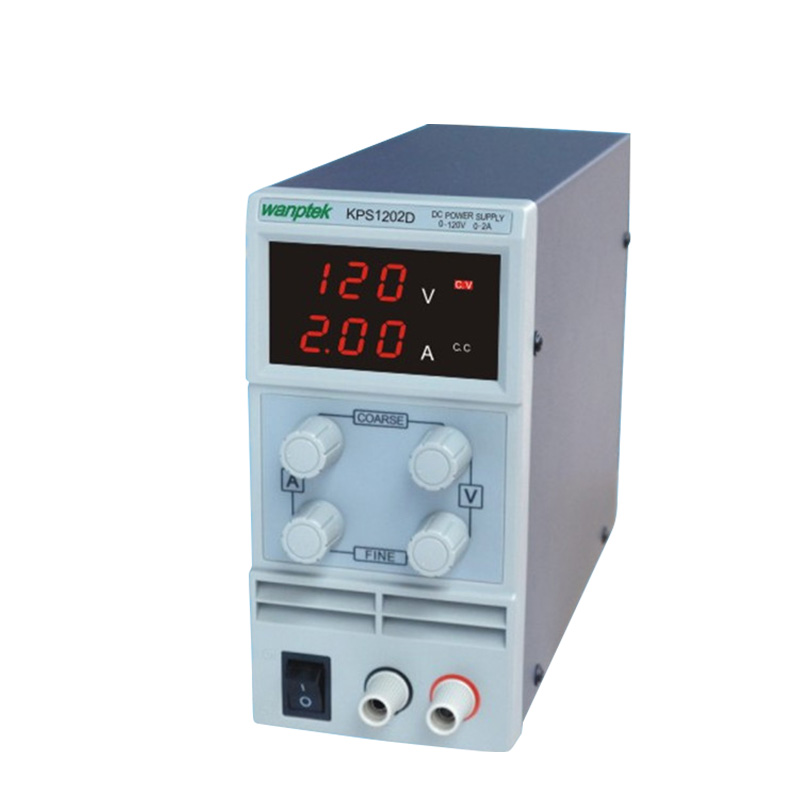 KPS1202D Adjustable High precision double LED display switch DC Power Supply protection function 120V2A 110V/220V 0.1V/0.01A EUKPS1202D Adjustable High precision double LED display switch DC Power Supply protection function 120V2A 110V/220V 0.1V/0.01A EU