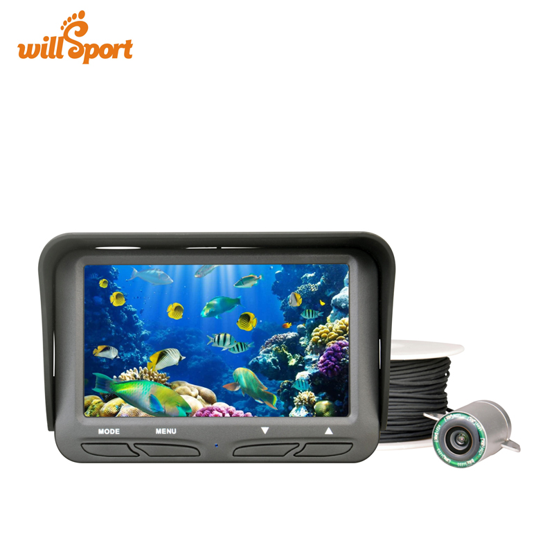 720P Underwater Ice Fishing Camera 4.3 inch LCD Monitor 6 LED Night Vision Video Camera 30m Cable Visual Fish Finder hu ying fish finder video 30 meter line 140 degree high definition night vision lens multi scene fishing 4 3 lcd 8pcs ir led