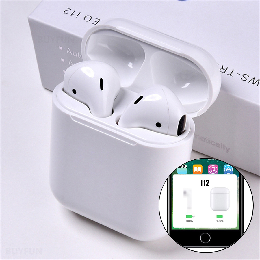 I12 Tws Pop Up Bluetooth Earphones Wireless Touch Control Earbuds Headset I12tws Not 1:1 Replica I30 Tws I20 I10 I30tws Lk-te9(China)