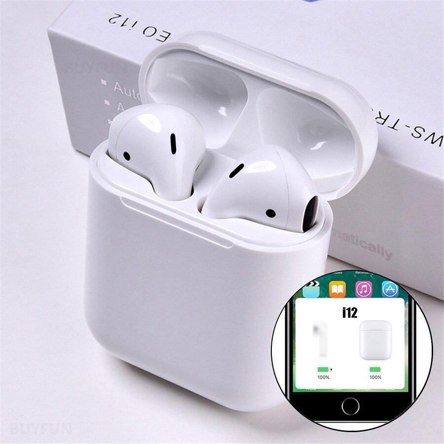 I12 Tws Pop Up Bluetooth Earphone Nirkabel Kontrol Sentuh Earbud Headset I12tws Tidak 1:1 Replika I30 Tws I20 I10 I30tws lk-te9