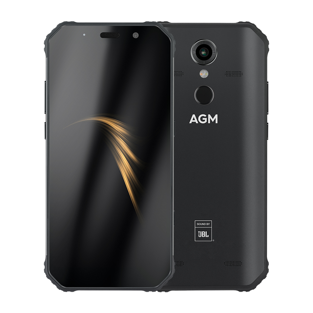 OFFICIAL AGM A9 JBL  5.99″ 4G+32G 4G+64G Android 8.1 Rugged Phone 5400mAh IP68 Waterproof Smartphone Quad-Box Speakers NFC
