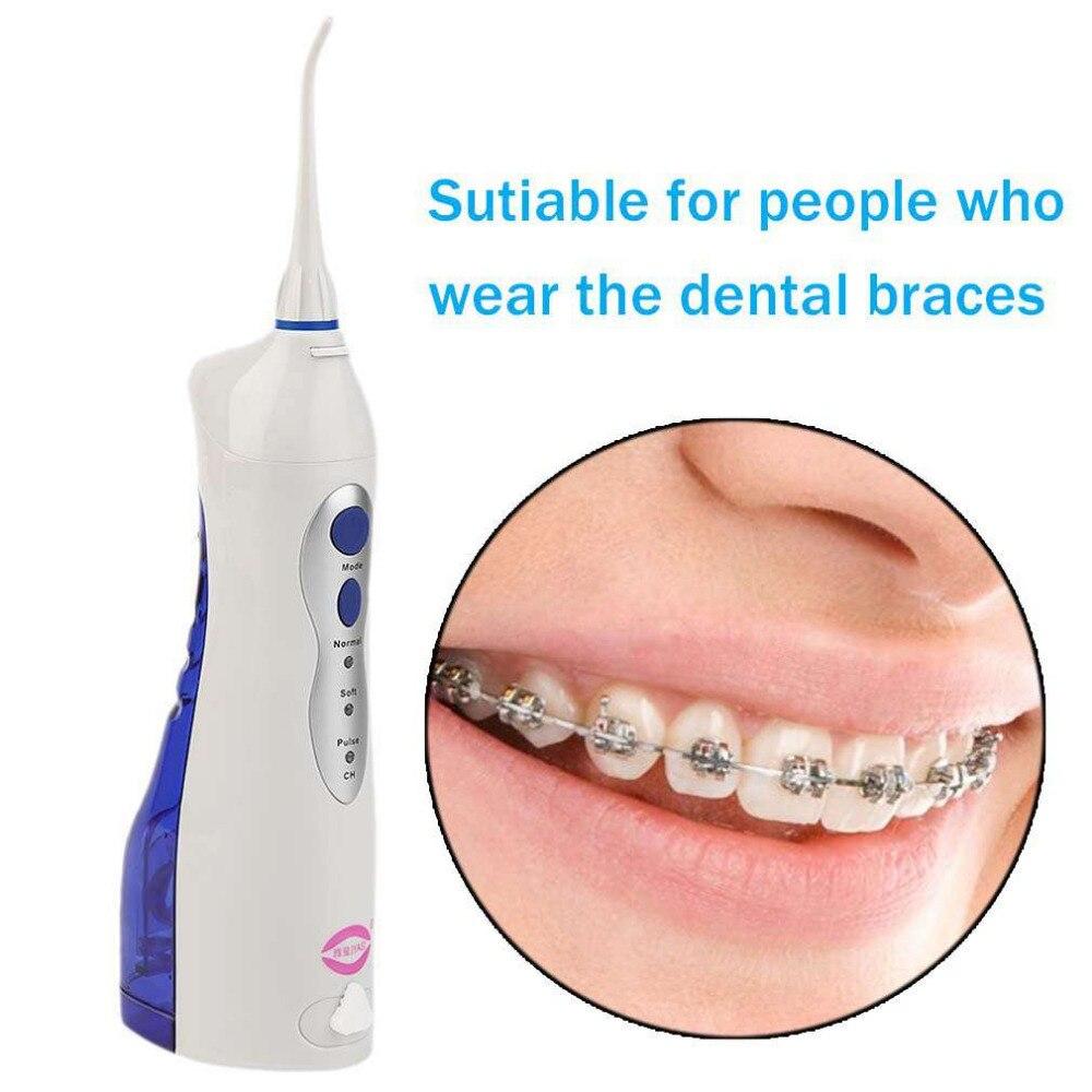 2017 Más nuevo V8 oral del agua potable del riego Blanqueadores de dientes agua flosser US/UK/UE plug dental Limpieza herramienta