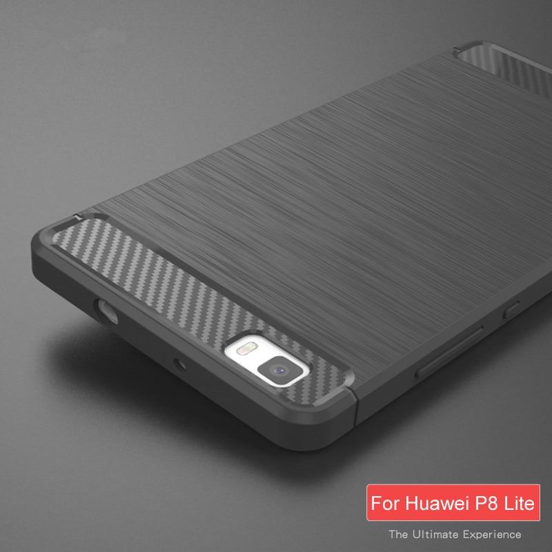 Untuk Huawei P8 Lite Kasus Kualitas Tinggi Lembut Silicon Kasus - Aksesori dan suku cadang ponsel - Foto 3