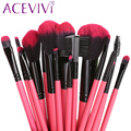 2016 HOT !! Professional 16 pcs Makeup Brush Set tools Make-up Toiletry Kit Wool Brand Make Up Brush Set with Pouch Bag Case $k