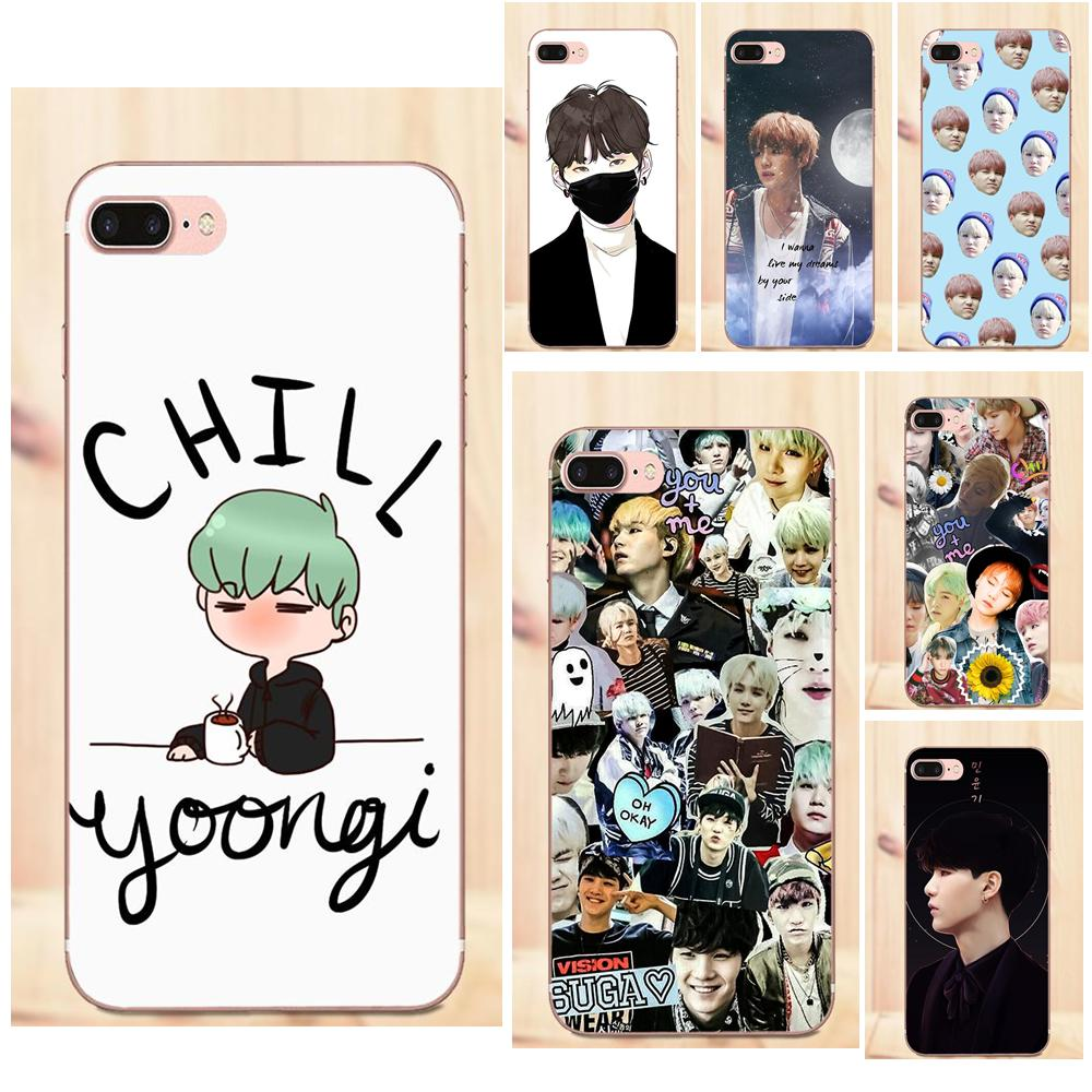 Binful Iphone Case Cover Transparent Coque For Iphone X Xr Xs Max 8 7 6s 6 Plus 5 5s 5c Se 4s 4 Bts Min Yoongi Sale Price Phone Bags & Cases Cellphones & Telecommunications