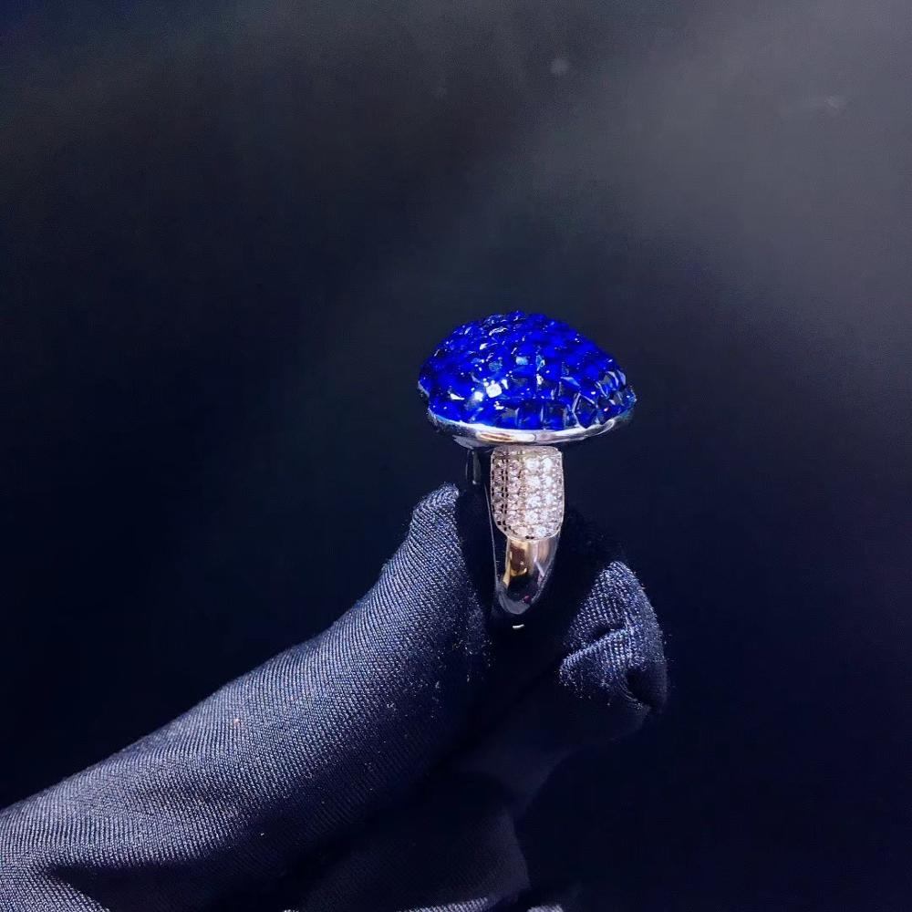 Ювелирный Набор из стерлингового серебра 925 пробы с кубическим цирконием, кулон в виде сердца, кольцо и серьги, модные женские ювелирные изд... - 5