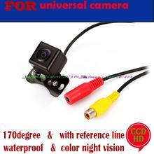 Cámara de visión trasera ccd/sony ccd de visión nocturna de color sistema de video para marcha atrás del coche para universal cámara delantera/trasera carmera ángulo ajustable