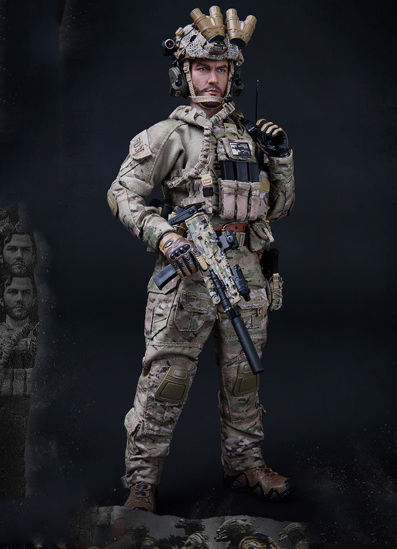 1/6 U.S Navy Seal Six Team with Two Guns Full Set Action Figures Toys Gifts Collections ...