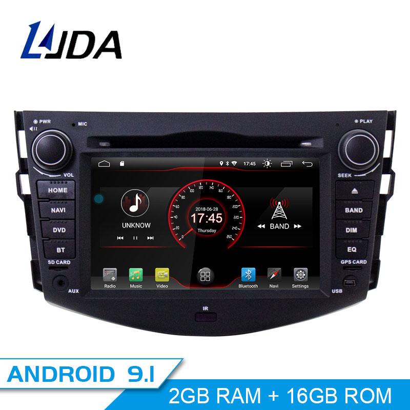 LJDA 2Din Android 9.1 Car Radio For Toyota RAV4 RAV 4 2007 2011 Car Multimedia Player Stereo Auto Audio GPS DVD Video IPS Screen