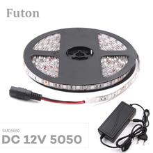 5m DC12V Female Plug LED Light Strip SMD5050 Waterproof  Flexible Tape For TV Backlight,Under Cabinet/bed,Night