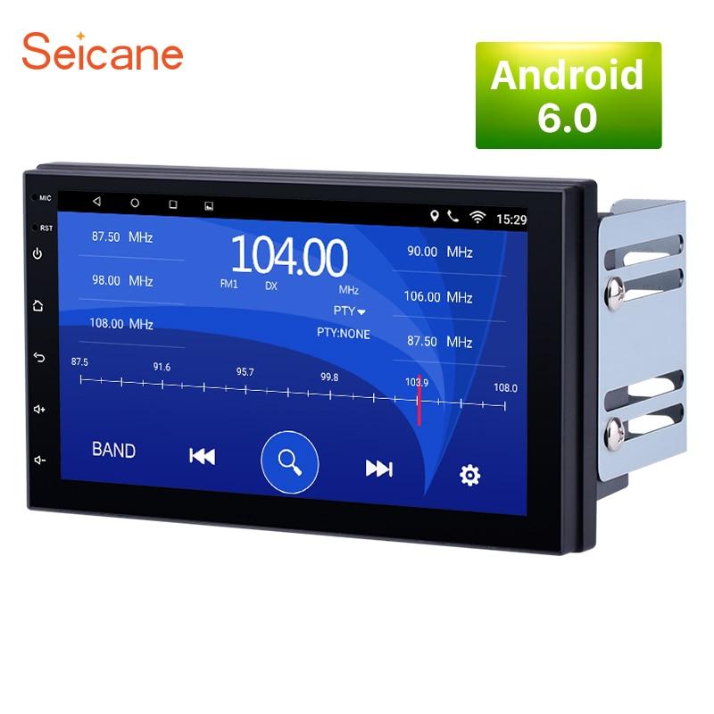 Seicane 2 DIN Universal Android 6 1 font b Car b font GPS Multimedia Navi Stereo