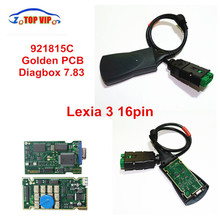 2018 Hot Selling High Quality Lexia3 Lexia 3 PP2000 Diagnostic Tool 92185C Gold PCB Board V48 Lexia3 V25  with diagbox v7.83