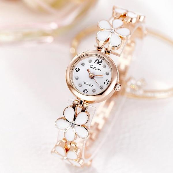 Top Brand JW Crystal Bracelet Wrist Watches Women Luxury Rose Gold Quartz Watch Clock Ladies Watch Relojes Para Mujer Kol Saati