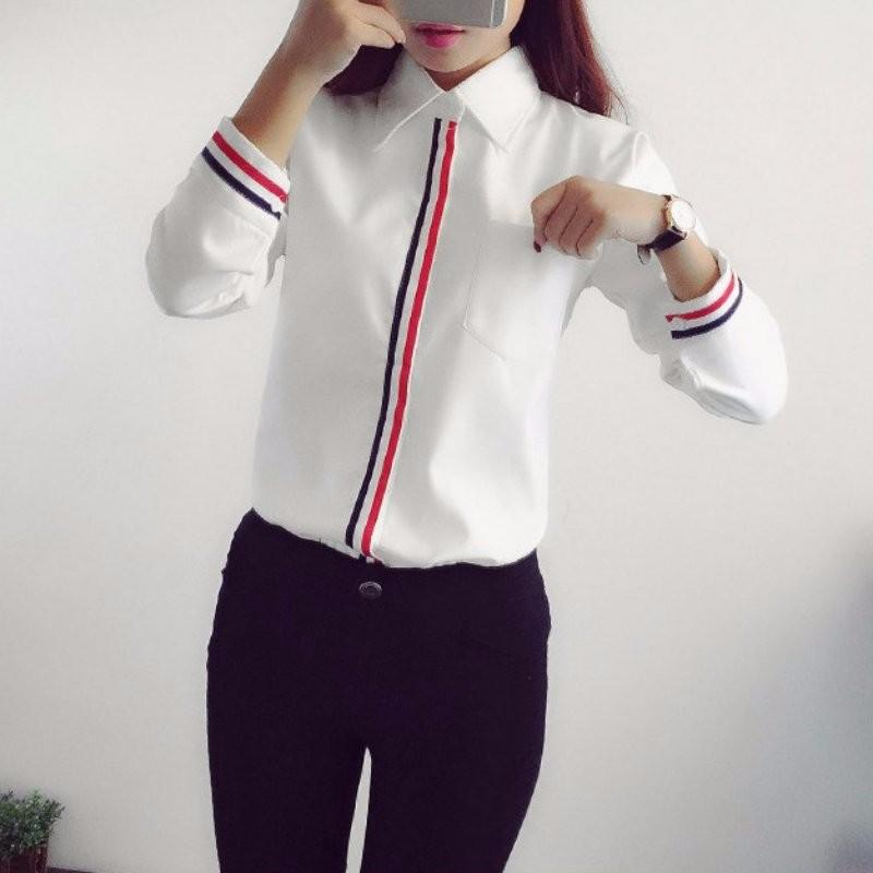 HTB1qr2lNXXXXXc XXXXq6xXFXXX4 - Women Shirt Chiffon Blusas Femininas Tops Elegant Ladies Formal Office